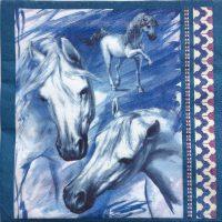 Rare art Painted blue horse