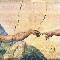 Michelangelo The Creation of Adam fresco painting
