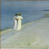 Rare For collectors Summer evening on Skagen's Beach by Severin Krøyer