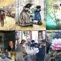 Free shipping 100x Assorted napkins for collection ,decoupage and other craft