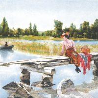 Rare Summer art by Gunnar Berndtson
