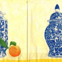 Ginger Jar Citrus/Orange art  by S. Hely