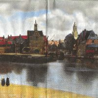Rare art by Vermeer View of Delft