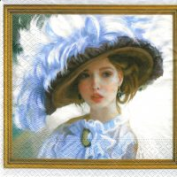 Rare Art  Lady with Hat