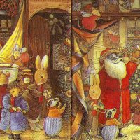 Harvey Mouse,Rabbit Foxwood Tales by Brian Paterson / Xmas