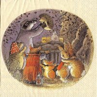 Harvey Mouse,Rabbit Foxwood Tales by Brian Paterson cream