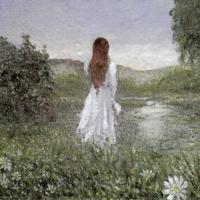 Rare Girl in a Meadow Field