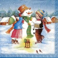 Winter fun with snowman last piece